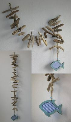Wall decoration,garland,driftwood,tread,juta,fish,wood,nautical style,marine,beach,home decor,beach house,wedding decoration,special gift, nautical wedding, hanging decoration, coastal decor, window, door, blue fush rustic, outdoor ocean wall, beach garland driftwood art,Decorazione, ghirlanda da appendere,legno di mare, spago,juta,pesce,legno,stile nautico,spiaggia,casa al mare,arredo da interno esterno,casa al mare, stile marino,ghirlanda porta finestra,decorazione parete matrimonio