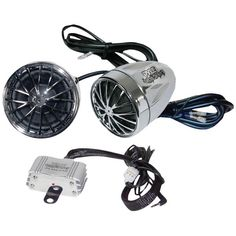 400-Watt Mounted Motorcycle/ATV/Snowmobile Amp & Weatherproof Dual-Handlebar Speakers - PYLE - PLMCA30