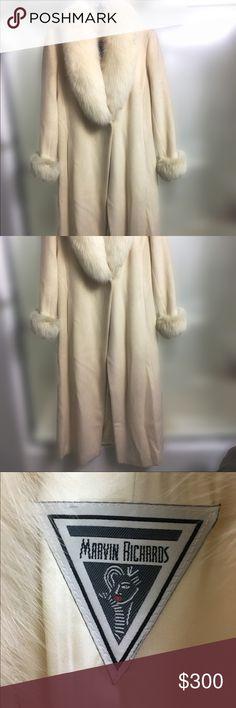 Selling this Marvin Richards real fur trench coat on Poshmark! My username is: saman1m. #shopmycloset #poshmark #fashion #shopping #style #forsale #Marvin Richards #Jackets & Blazers