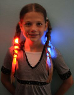Crazy Hair Day - Glow in the Dark Braids