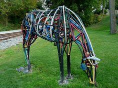 Horse made from #bike parts. Hey, I'm all about re-purposing. #BikeGuru