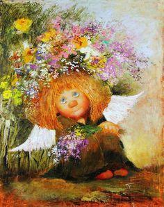 Международный университет декупажа   ВКонтакте Art And Illustration, Illustrations, Fable, Angel Pictures, Flash Art, Angel Art, Whimsical Art, Conte, Vintage Pictures