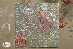 Tutorial: Embossed Foil Tiles and Pendants Metal Crafts, Paper Crafts, Crafts To Make, Arts And Crafts, Emboss, Pattern Design, Art Projects, Clip Art, Pendants