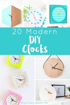 Modern DIY Clocks are the perfect addition to your home office or studio! Follow these DIY Clock Tutorials for quick and easy home decor.