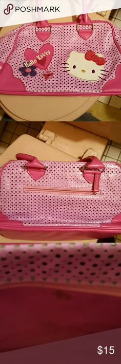 Hello kitty purse Pink with hello kitty logo. Zippered pocket inside. Inside sm stain see picture otherwise  euc hello city Bags
