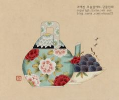 Korean Painting, Painting & Drawing, Traditional Tattoo, Traditional Art, Watercolor Flowers, Watercolor Art, Tea Cup Art, Tea Illustration, Illustrations
