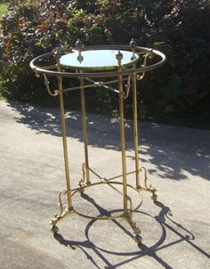 "R3 - VIntage Brass Round Clothing Rack DIMENSIONS= 36""w x 60""h"