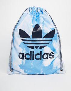 Adidas Drawstring Backpack in Cloud Print
