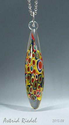 Astrid Riedel Glass Artist: Hollow bead... Mosaic window!