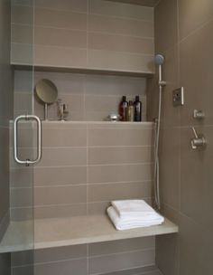How-To DIY Article | 11 Simple DIY Ways To Make Your Small Bathroom Look BIGGER | Image Source:  Carla Aston  | CLICK TO ENJOY... http://carlaaston.com/designed/11-easy-ways-to-make-a-small-bathroom-look-bigger (KWs: mirror, cabinet, closet, lighting)