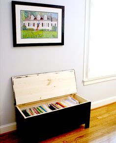 10 Ways to Spruce Up Your Home Office - use an old trunk, fill with your file folders instead. Maybe we can get rid of our ugly filing cabinet!