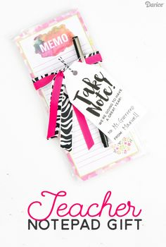 Teacher's Gift DIY Notepad Set from Darice