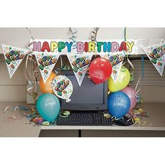 Awesome Ideas About Office Birthday Decorations On Pinterest  Office Birthday