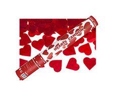 canon confettis coeurs rouge mtalliques 40 cm pour une sortie des maris explosive optez pour - Canon A Confetti Mariage