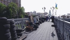 #maidan, #kiev, #ukraine,  #independence square, #footbridge, #photoreport,  #after revolution