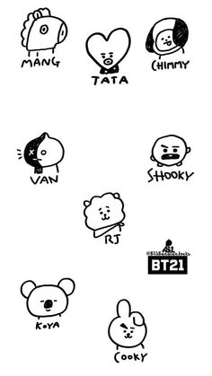 how to draw rj Bts Chibi, Bts Taehyung, Bts Jimin, Bts Kawaii, Bts Tattoos, Fanart Bts, Kpop Drawings, Bts Aesthetic Pictures, Billboard Music Awards