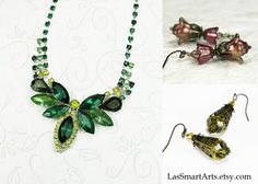 """Lisa's artistic eye and love of the Victorian era allows her to hand paint her jewelry to absolute perfection. https://www.etsy.com/shop/LasSmartArts """"My inspiration for my jewelry pieces comes from the creaky """"Old Lady""""... no not my mother, but my house, a Victorian Queen Anne that I have had the privilege to maintain and enjoy for over 3 decades."""""""