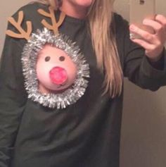 Screw Ugly Christmas Sweaters; New NSFW Hotness Is Girls Cutting Holes In Sweaters And Decorating Boobs As Reindeers
