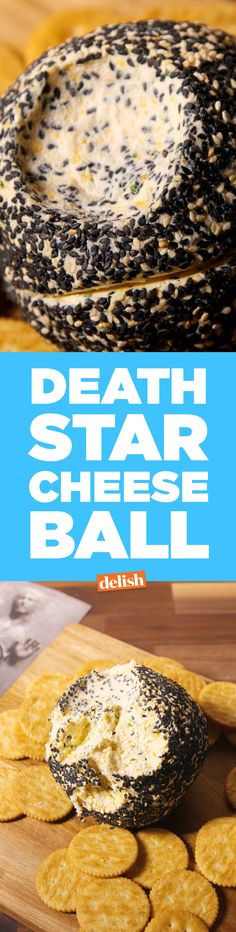 Star Wars fans: Love this Death Star Cheese Ball, you will. Get the recipe on Delish.com.
