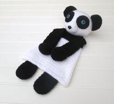 Crochet Black and White Panda Ragdoll Lovey by SugarandSpiceKate