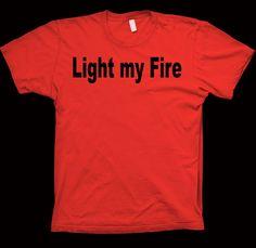The Doors Light My Fire TShirt Jim Morrison The Beatles by Sheraki, $16.99