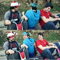 I love Mark, Ethan, and Tyler! Especially in the 7 second challenge and the Do not laugh!