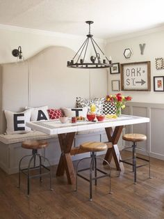 small dining room idea tips for turning your small kitchen into an eatin kitchen page 02 rooms home u0026 garden television - Dining Tables For Small Spaces
