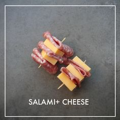 Salami + Cheese Snack // shutterbean perfect idea for traveling Summer Snacks, Fun Snacks For Kids, Lunch Snacks, Easy Snacks, Kids Meals, Healthy Snacks, Work Lunches, Salami And Cheese, Cheese Snacks
