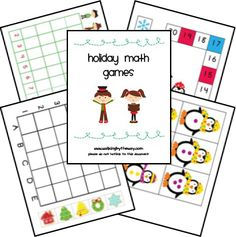 Holiday math games (and also phonics games for the Holidays! Christmas Math, Preschool Christmas, Noel Christmas, Christmas Nativity, Christmas Themes, Phonics Games, Math Games, Math Activities, Preschool Games