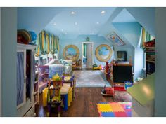 kids playroom, ceiling paint