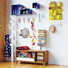 Kids Storage: Colorful Iron Wall Organizers in Shelf & Wall Storage