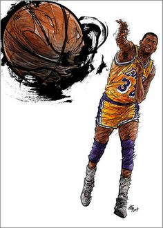 #Yellowmenace: NBA LEGENDS by KIM MINSUK (김민석) - Magic Johnson *See More Minsuk Basketball Art HERE - NBA Season 2014-15> http://yellowmenace8.blogspot.com/2015/04/art-minsuk-kim-nba-2014-15-season-in.html Korean Basketball> http://yellowmenace8.blogspot.com/2015/05/art-korean-basketball-illustrated-by.html