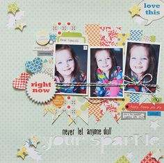 Layout by Becky Williams using Lily Bee Design Pinwheel collection  #scrapbook #lilybee #lilybeedesign