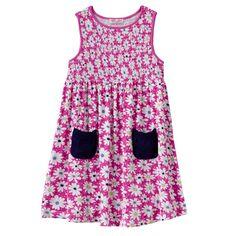 Design 365 Smocked Daisy Dress - Toddler Girl, Size: 2T, Dark Pink