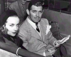 """It was a perfect thing. I never expect to find it again."" (Clark Gable,on his marriage to Carole Lombard. Here they are photographed at the auto races) Hollywood Couples, Old Hollywood Stars, Hollywood Icons, Golden Age Of Hollywood, Vintage Hollywood, Classic Hollywood, Hollywood Glamour, Carole Lombard, Clark Gable"