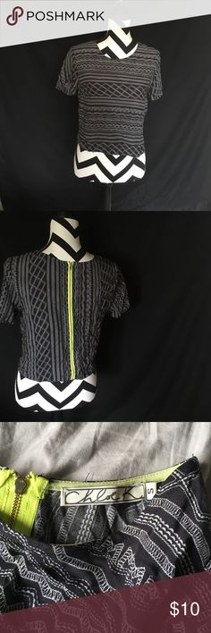 Aztec crop top This is kinda a high rise almost crop top cute with high waisted jeans or tucked in a skirt. Great condition Chloe K Tops Blouses