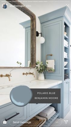 Bathroom decor for your bathroom remodel. Discover bathroom organization, bathroom decor ideas, bathroom tile ideas, bathroom paint colors, and more. Paint Colors For Home, House Colors, Blue Paint Colors, Bathroom Paint Colors, Baby Blue Paint, Kids Bathroom Paint, Coastal Paint Colors, Bathroom Canvas, Paint Color Schemes