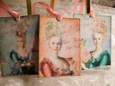 Marie Antoinette and Breast Cancer Tags  TG 105  by smtiffanylane, $5.00