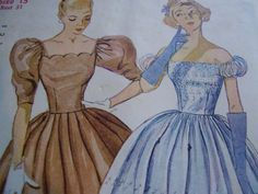 Vintage 1950's Simplicity 3855 Dress Sewing by TheLastPixie, $14.50