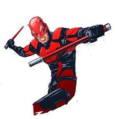 Daredevil(Matt Murdock) Daredevil by pungang on DeviantArt Marvel Comic Books, Marvel Art, Marvel Heroes, Marvel Characters, Comic Books Art, Comic Art, Daredevil Punisher, Wolverine, Serie Marvel