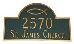 Ichthus Arch Address Plaque