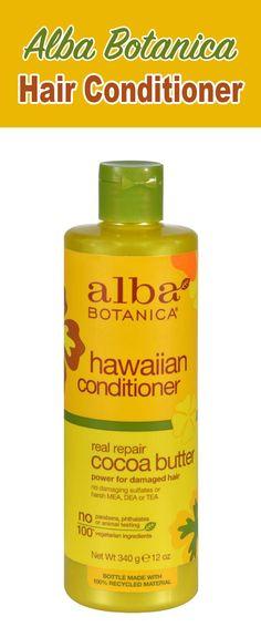 Alba Botanica Hawaiian Hair Conditioner Cocoa Butter - 12 Fl Oz