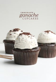 Chocolate Ganache Cupcakes | The Fauxmartha with recipe link  Great reviews~ Ganache inside.