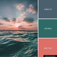 Waves | Deep | Sunrises and Sunsets | Warm |Color Palette Inspiration. | Digital Art Palette And Brand Color Palette. Beach Color Palettes, Sunset Color Palette, Sunrise Colors, Pantone Colour Palettes, Color Schemes Colour Palettes, Colour Pallete, Paint Color Combos, Color Mixing, Color Combinations