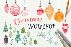 HandDrawn Christmas Workshop by Vítek Prchal on @creativemarket