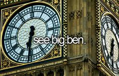See Big Ben. # Before I Die # Bucket List # London # England 3 times I went to London and 5 times I sawBig Ben Oh The Places You'll Go, Places To Travel, Places To Visit, Adventure Bucket List, Adventure Is Out There, Bucket List Before I Die, Voyage Europe, Summer Bucket Lists, London Eye