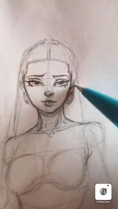 Straight hair drawing