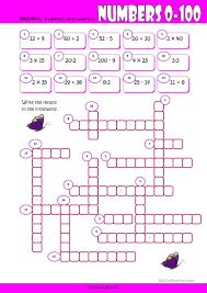 Resultado de imagen para numbers crossword