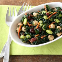 Kale and Edamame Salad Recipe
