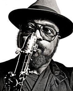 James Moody, 1986 #johnclaridge, Across the Tracks: John Claridge, #TheSocietyClub, Soho until 19th October http://www.thesocietyclub.com/ See more: http://akehurstcreativemanagement.co.uk/index.html  #johnclaridge #soho #london #eastend #photographs #nickyakehurst #silvertown  #photomonograph #spitalfieldslife #monograph #ronniescotts #jazz #exhibitions #jamesmoody